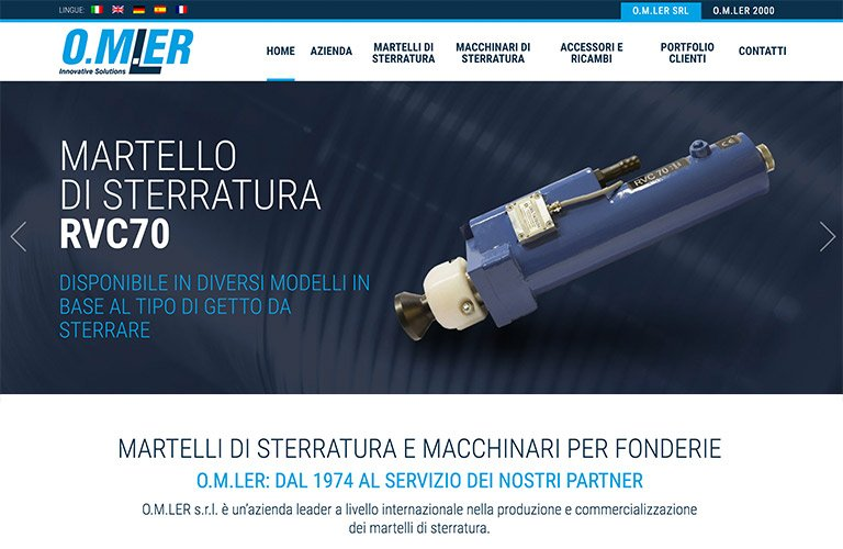 O.M.LER srl - Nuovo sito online